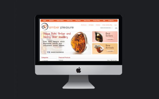 custom web design services for amber pleasure